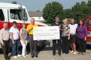 Donation to the Bright Fire Dept & EMS